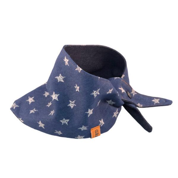 Knoopbandana Denim Stars