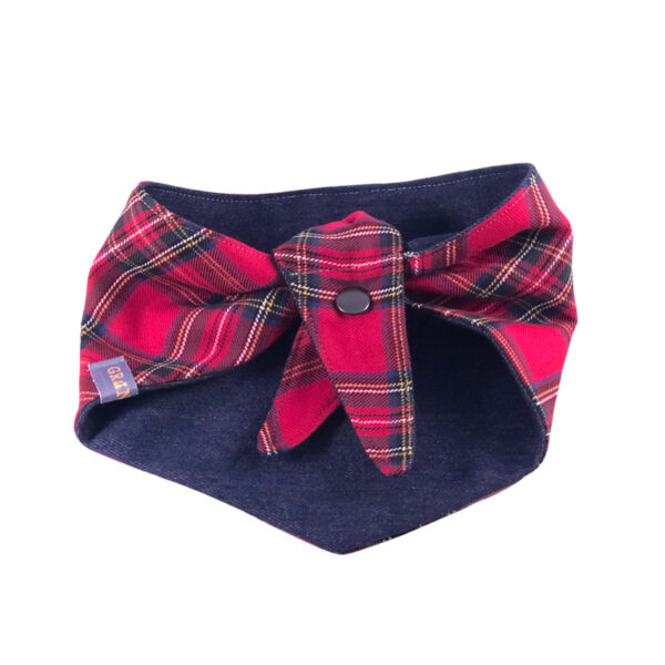 Knoopbandana Scottish Red